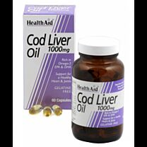Health Aid Cod Liver Oil 1000mg 60 Cápsulas