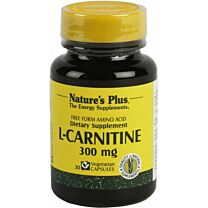 Natures Plus L-Carnitina 300mg 30 Cápsulas