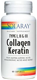 Solaray Collagen Keratin 60 Cápsulas
