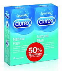 Durex Natural Plus 12+12 Preservativos