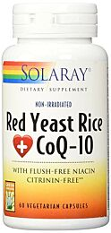 Solaray Plus Red Rice & Q10 60 Cápsulas